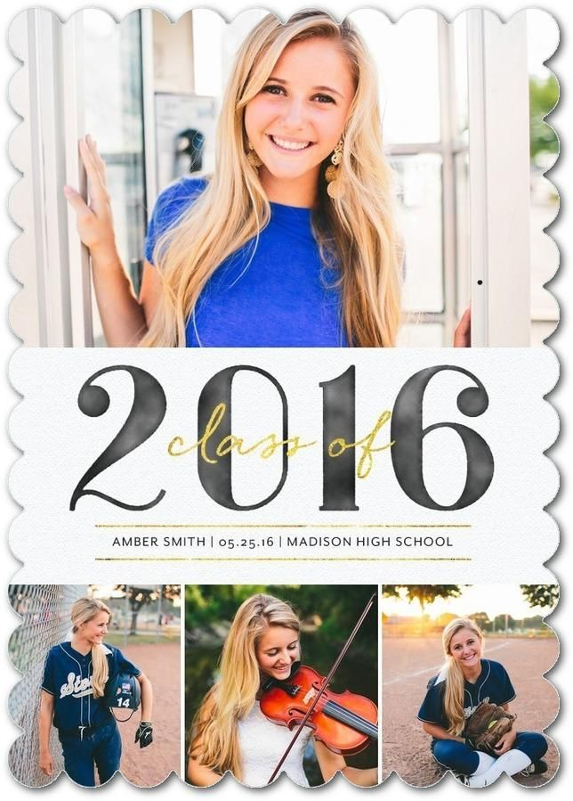 shop custom graduation announcements with multiple photo options to show off your personal style - Personalized Graduation Invitations