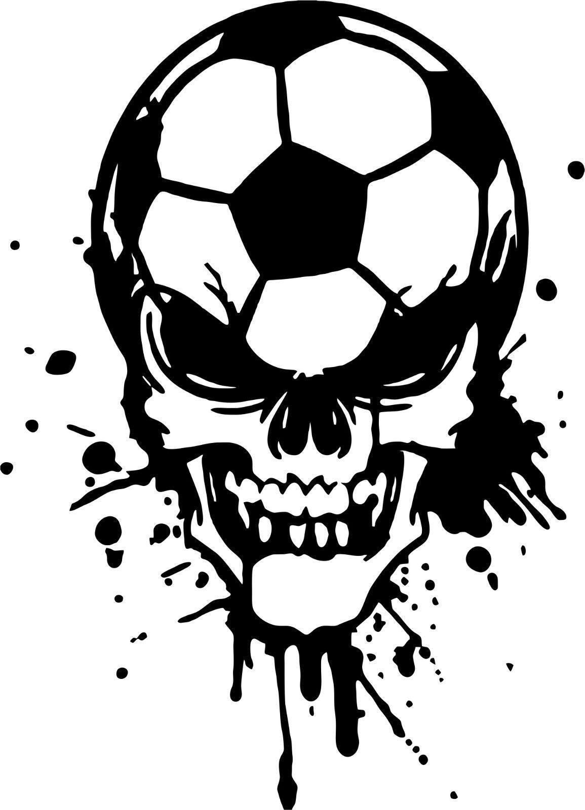 Soccer Skull Sports Game Football Car Truck Window Laptop