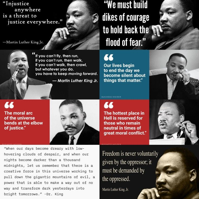 words to describe martin luther king jr
