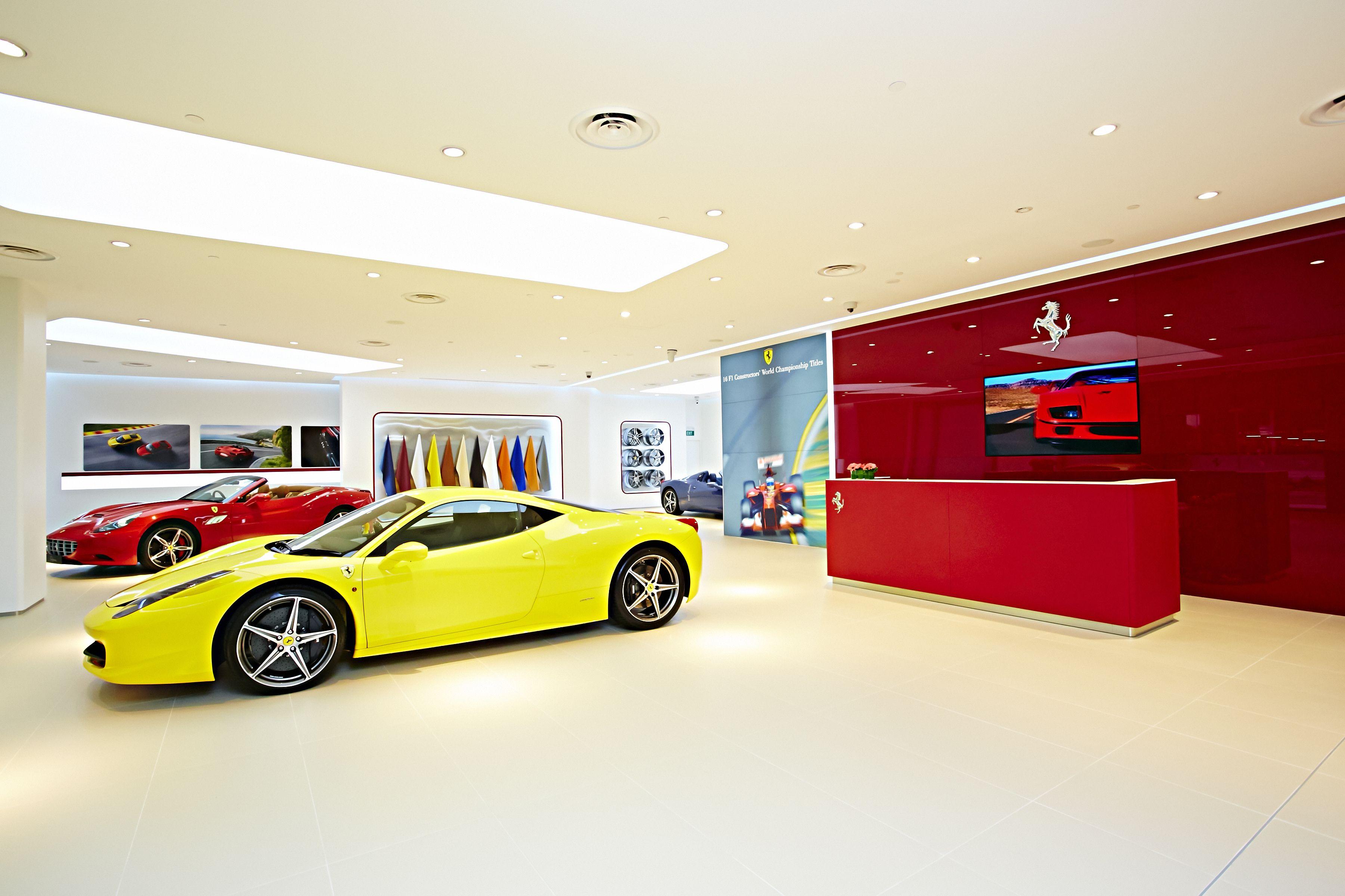 ferrari showroom in singapore | interior & retail | pinterest