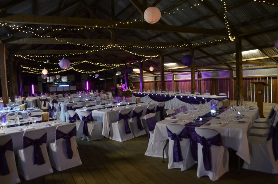 Purple White Wedding By Toowoomba White Wedding And Event Hire