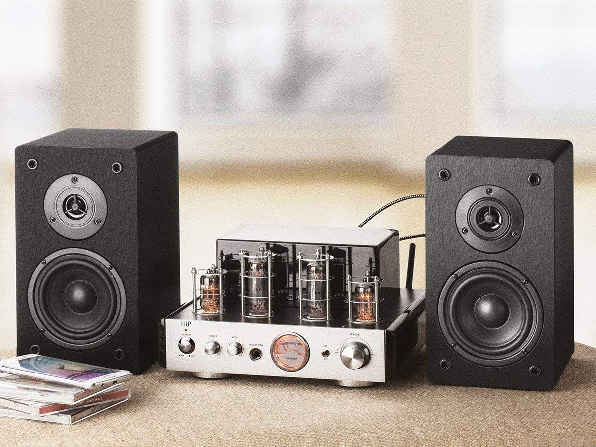 Amazon Com Monoprice 113807 Stereo Tube Amp System With Bluetooth