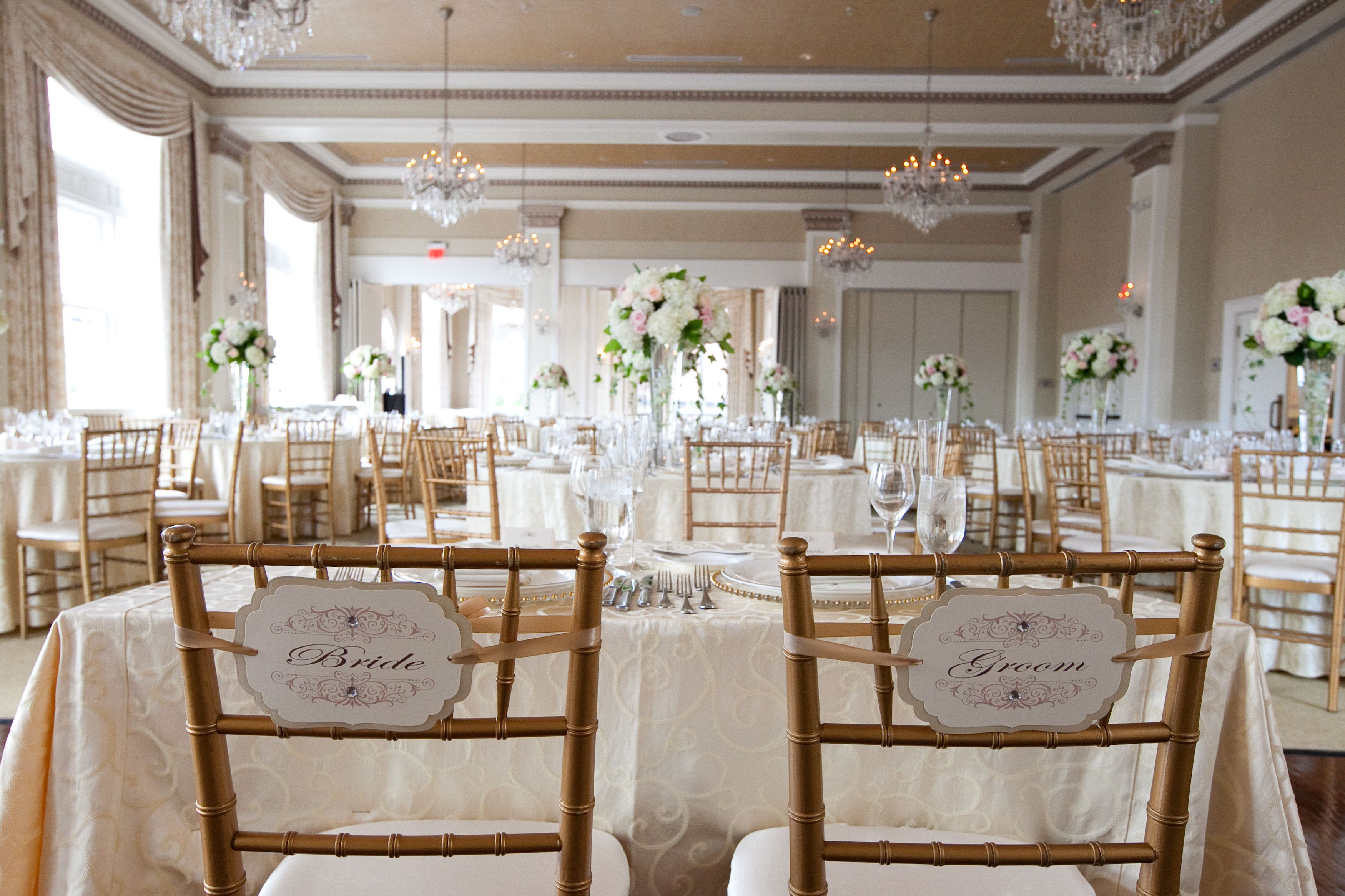 Bride & Groom Chair Covers by Julie Napear graphy