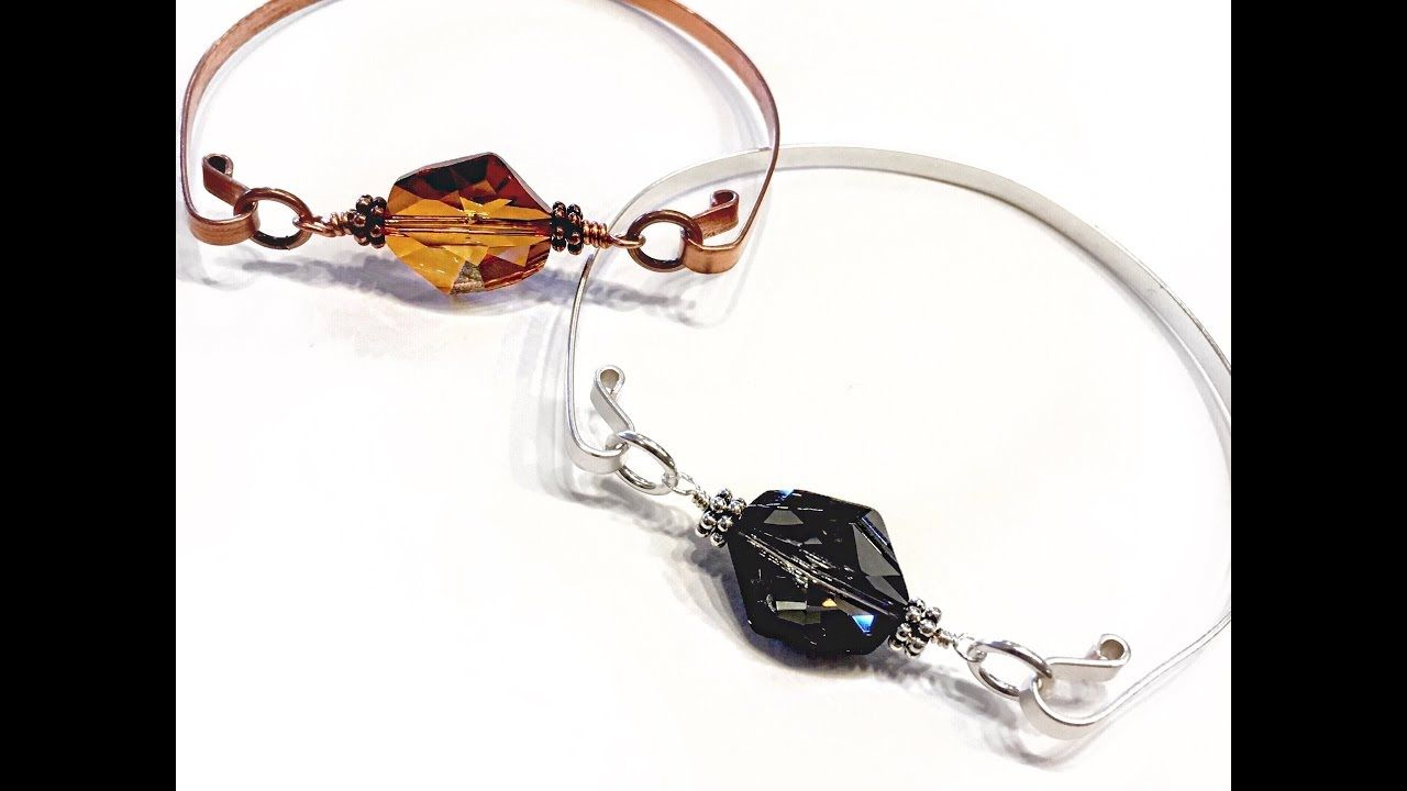 How To Make An Interchangeable Bead Wire Bangle Bracelet | Wire ...