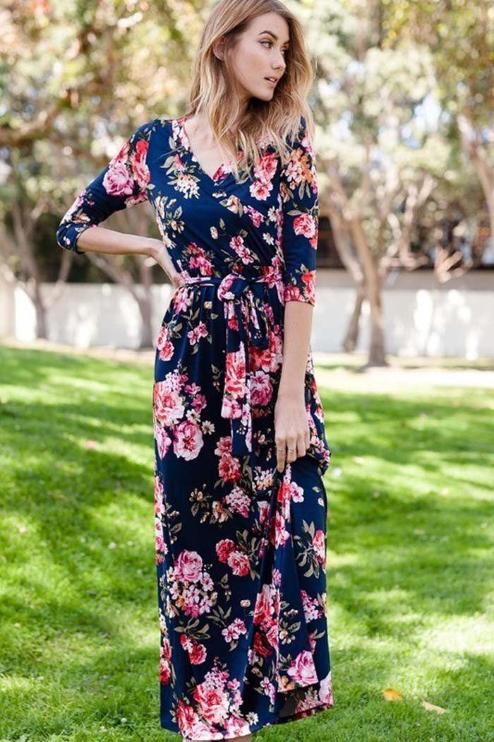 1d06996a047 GOZON Women s Secret Garden Floral With Surplice Neck Maxi Dress – GOZON  Boutique
