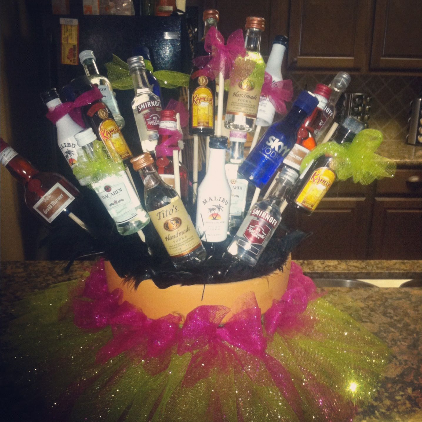 21st Birthday Gift Basket Alcohol : Madison s st birthday present alcohol basket drinks