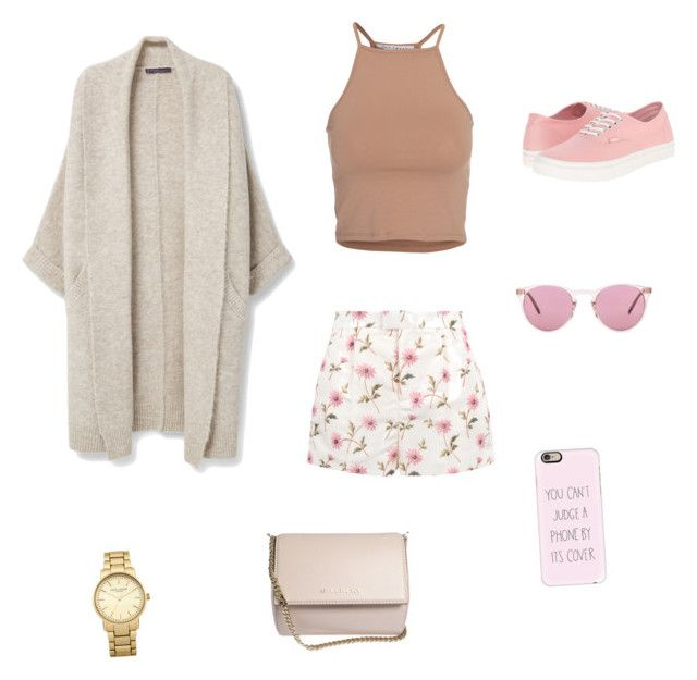 """""""Sin título #26"""" by cande-izzo on Polyvore featuring Violeta by Mango, RED Valentino, NLY Trend, Vans, Oliver Peoples, Casetify, Topshop y Givenchy"""
