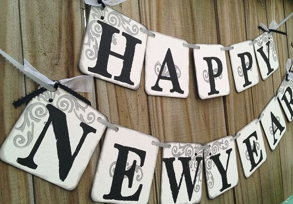 happy new year banner new years party decoration sign garland classic banners