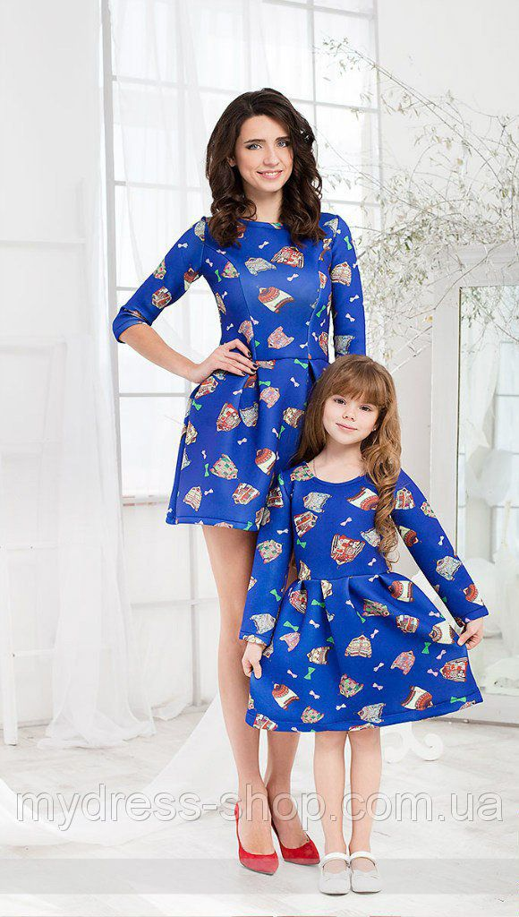ee9081fe083e Family Look. Стильные платья мама+дочка 3D дизайн   Niñas   Mommy, me