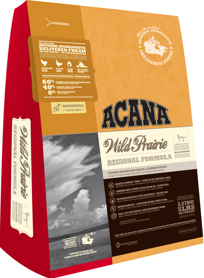 Acana Prairie Feast Grain Free Dry Cat Food (With images