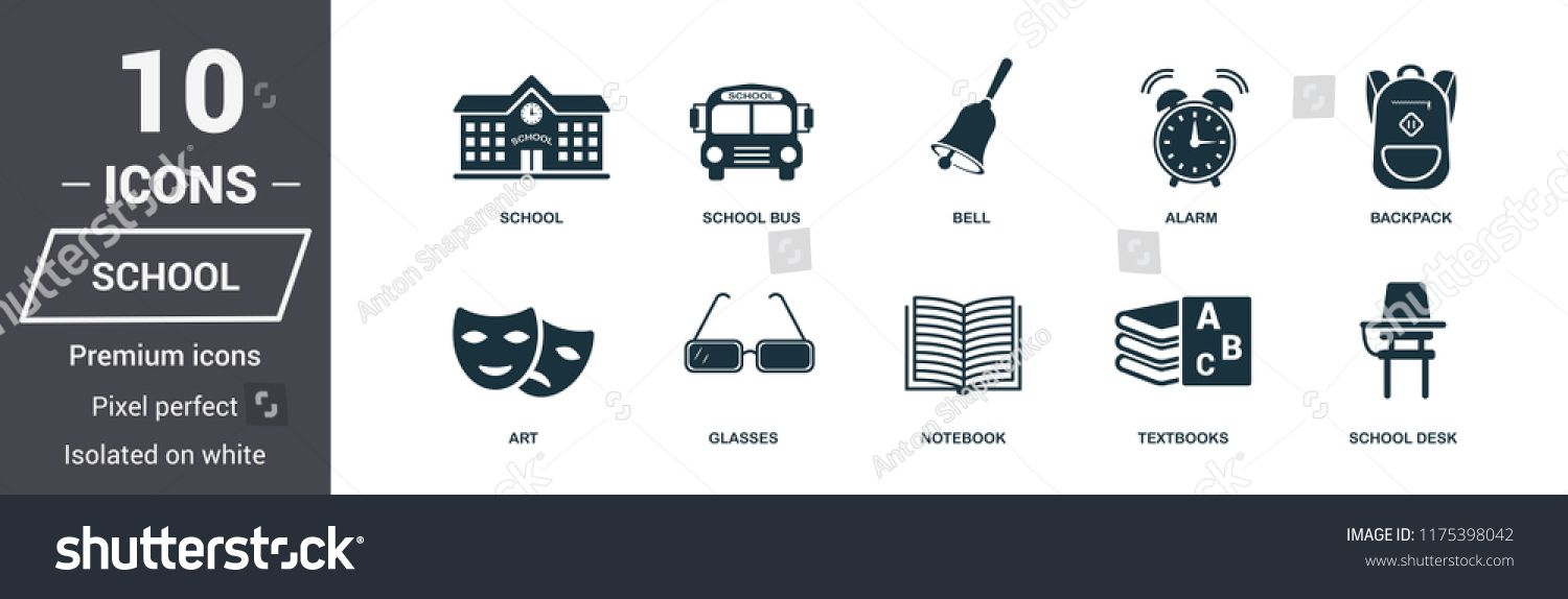 Insurance icons set. Premium quality symbol collection. School icon set simple elements. Ready to use in web design, a #Ad , #AFF, #symbol#quality#School#collection