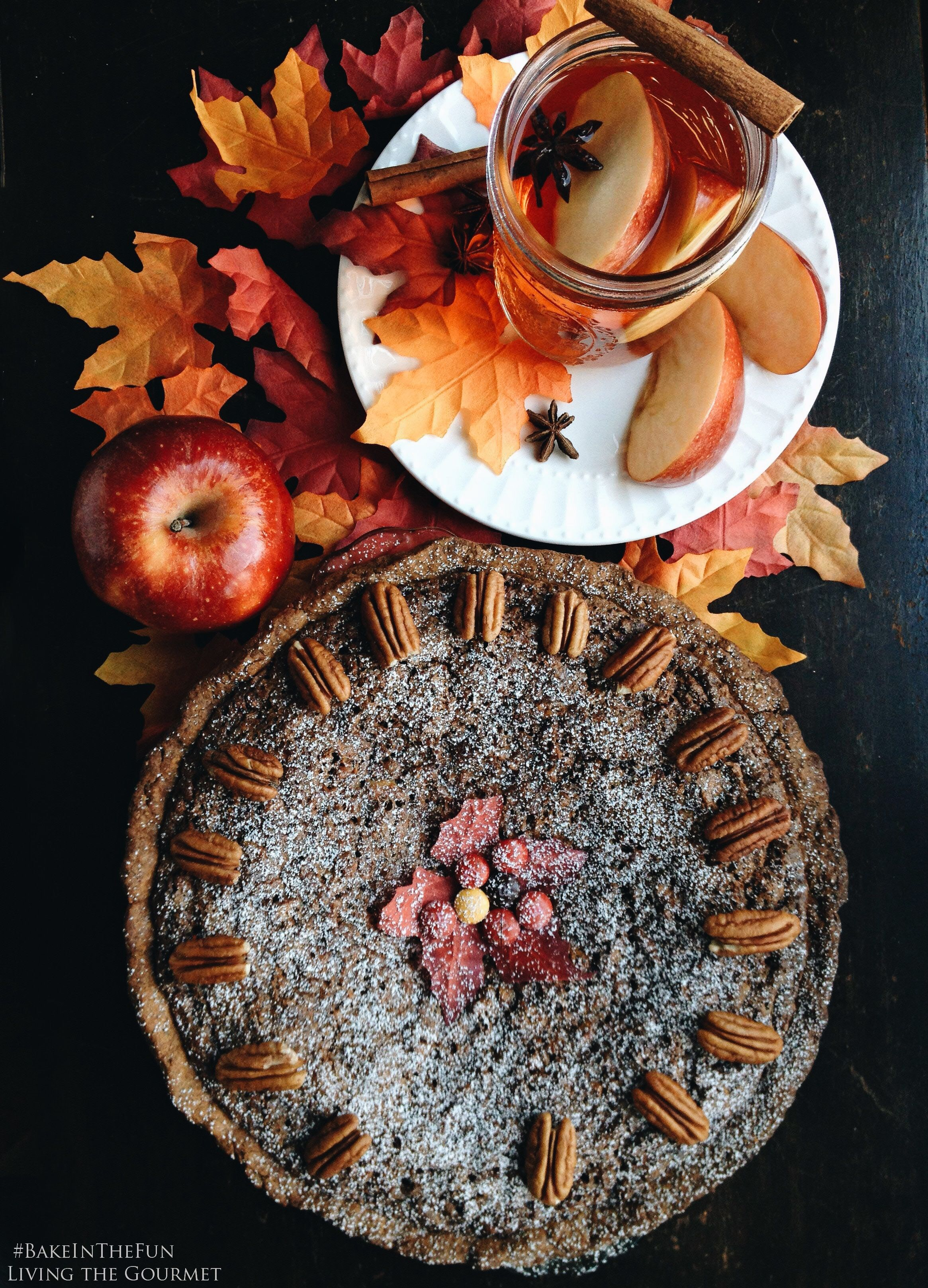 Chocolate Pecan Pie and Spiced Apple Cider | Living the Gourmet