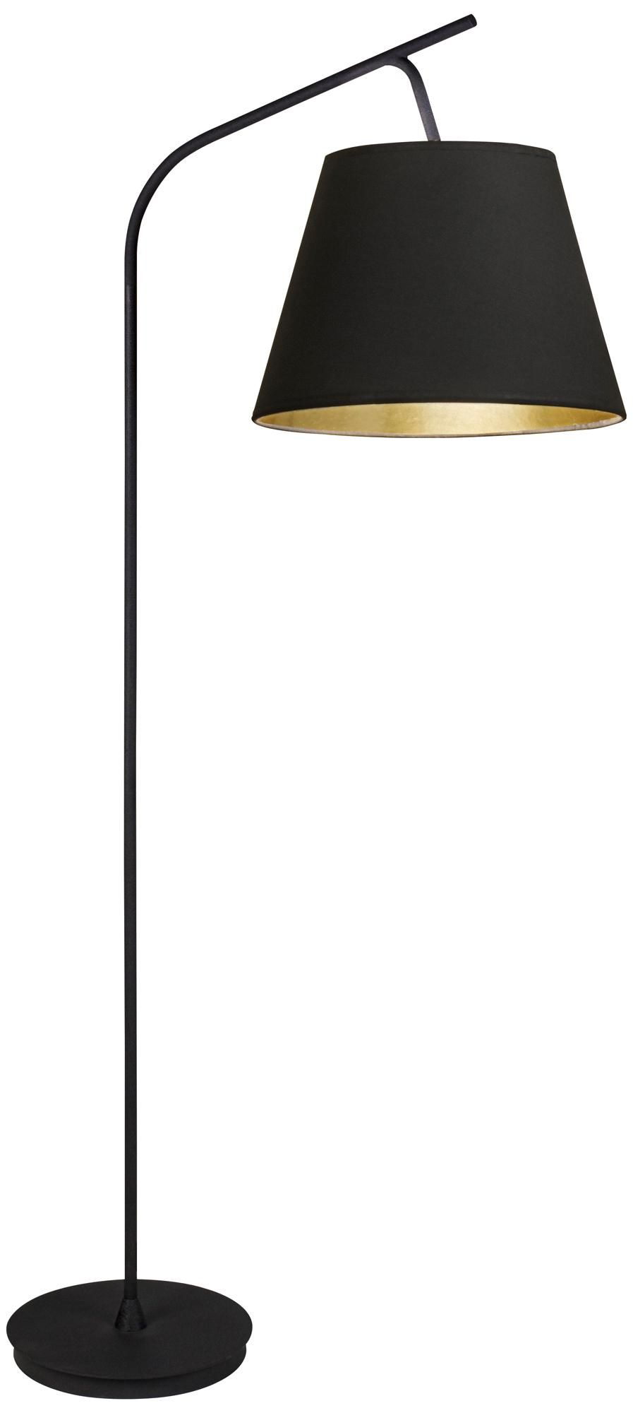 Walker Black With And Gold Shade Arc Floor Lamp
