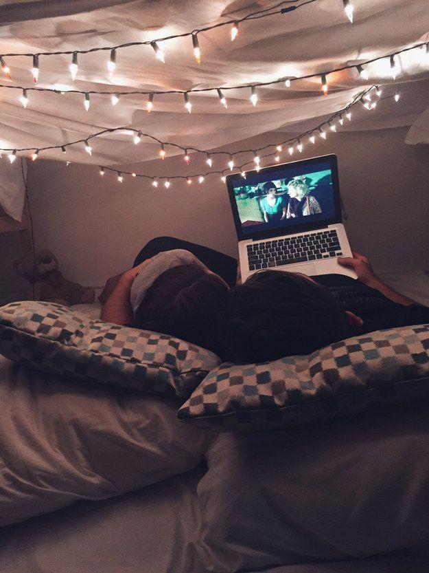 Make It A Date Night Blanket FortsBlanketsTwinkle LightsRoom