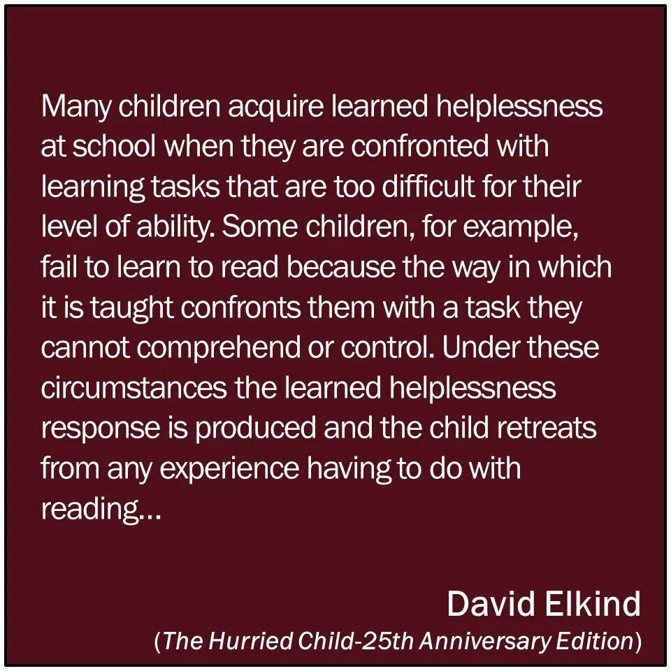 Learned Helplessnessis Is Also Huge With Math Kids