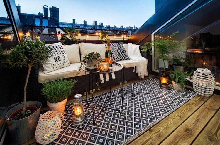 Dachterrasse Gestalten Und Gemütlich Einrichten - Behilfliche ... Terrasse Einrichten Ideen Pouf
