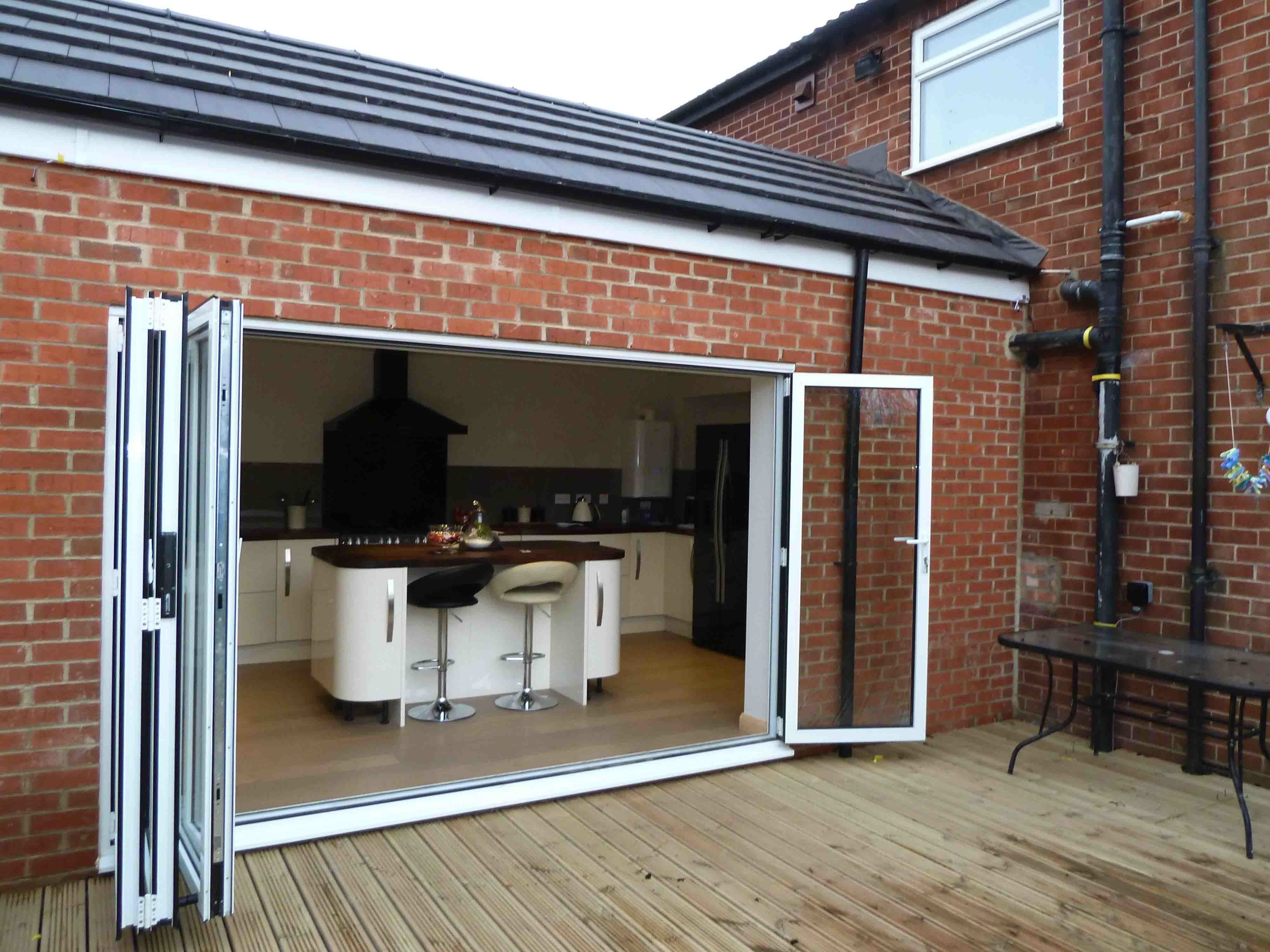 Kitchen Extension With Folding Sliding Door Access To