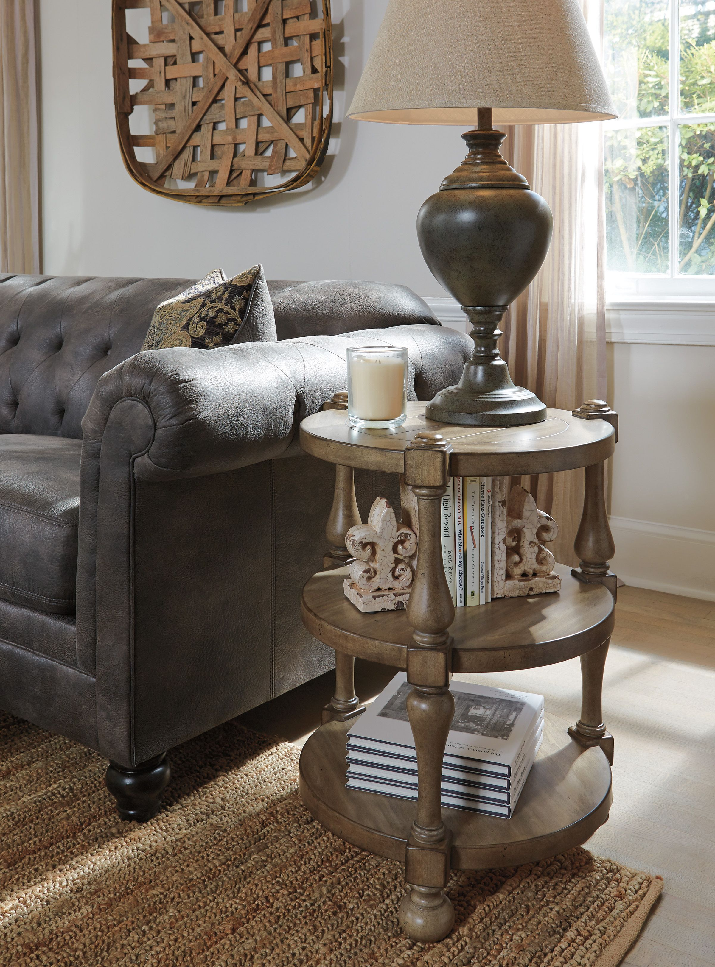 Living Room Decor: Chalimone Round Accent/End Table by Ashley ...