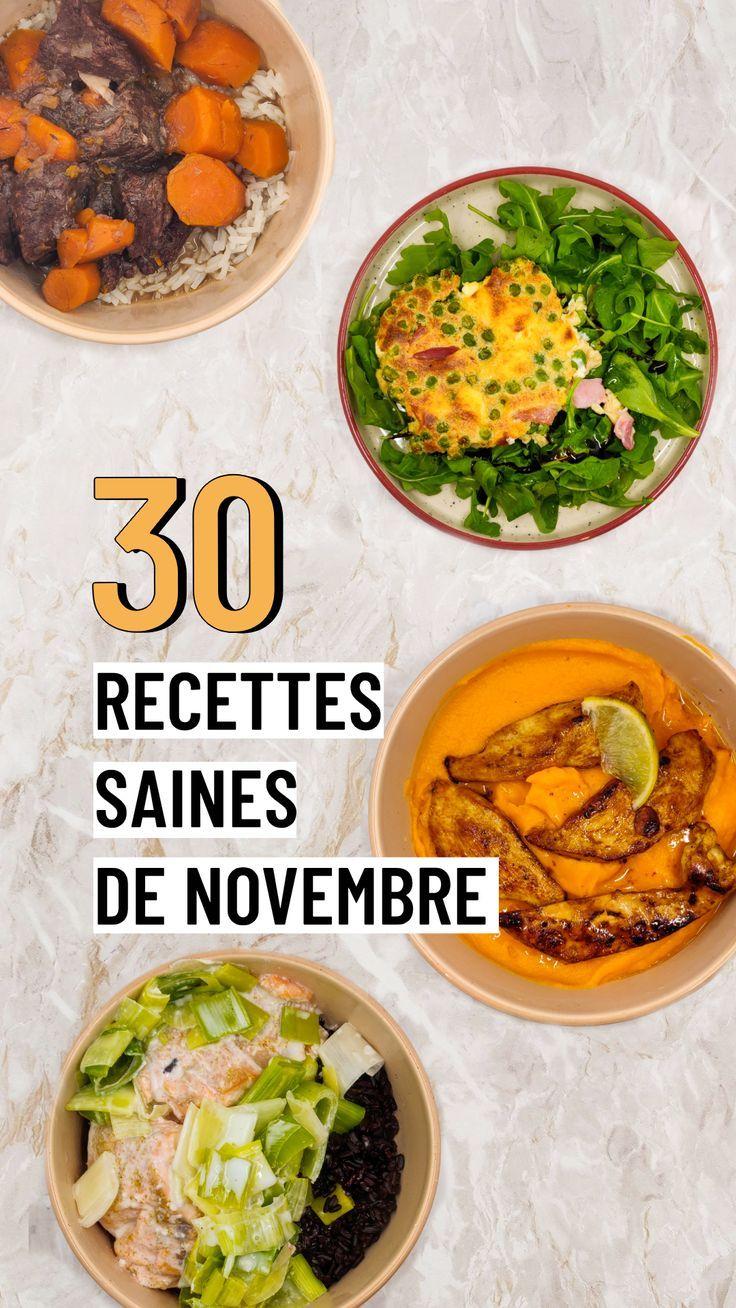 12 recettes saines de novembre   Manger sainement recette ...