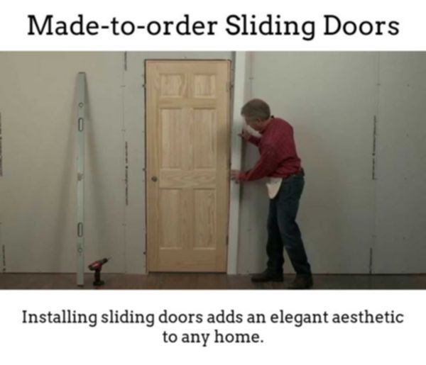 Sliding Doors. Make High-class, Well Lit Spaces With