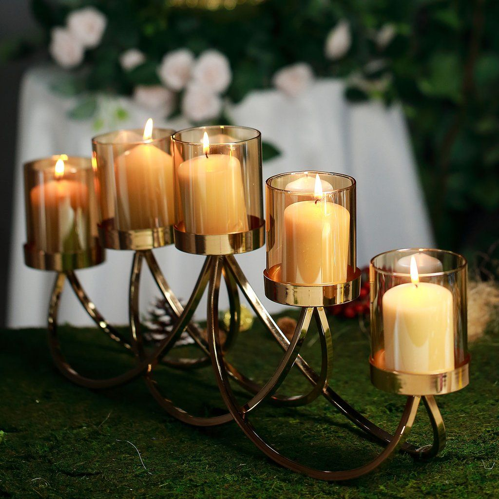 Browse Tablecloths S Latest Line Of Candle Supplies And Candle Decoration Accessories Glam Any Spa Candle Holders Votive Candle Holders Candelabra Centerpiece