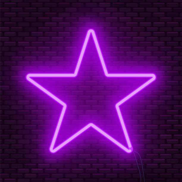 Neon Glowing Star Sign Can Be Used As A Text Frame Vector Wallpaper Iphone Neon Purple Wallpaper Iphone Neon
