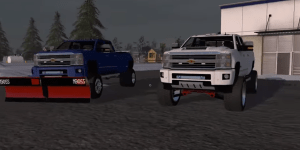 Farming simulator 17 lifted Chevy 3500 high country 2nd