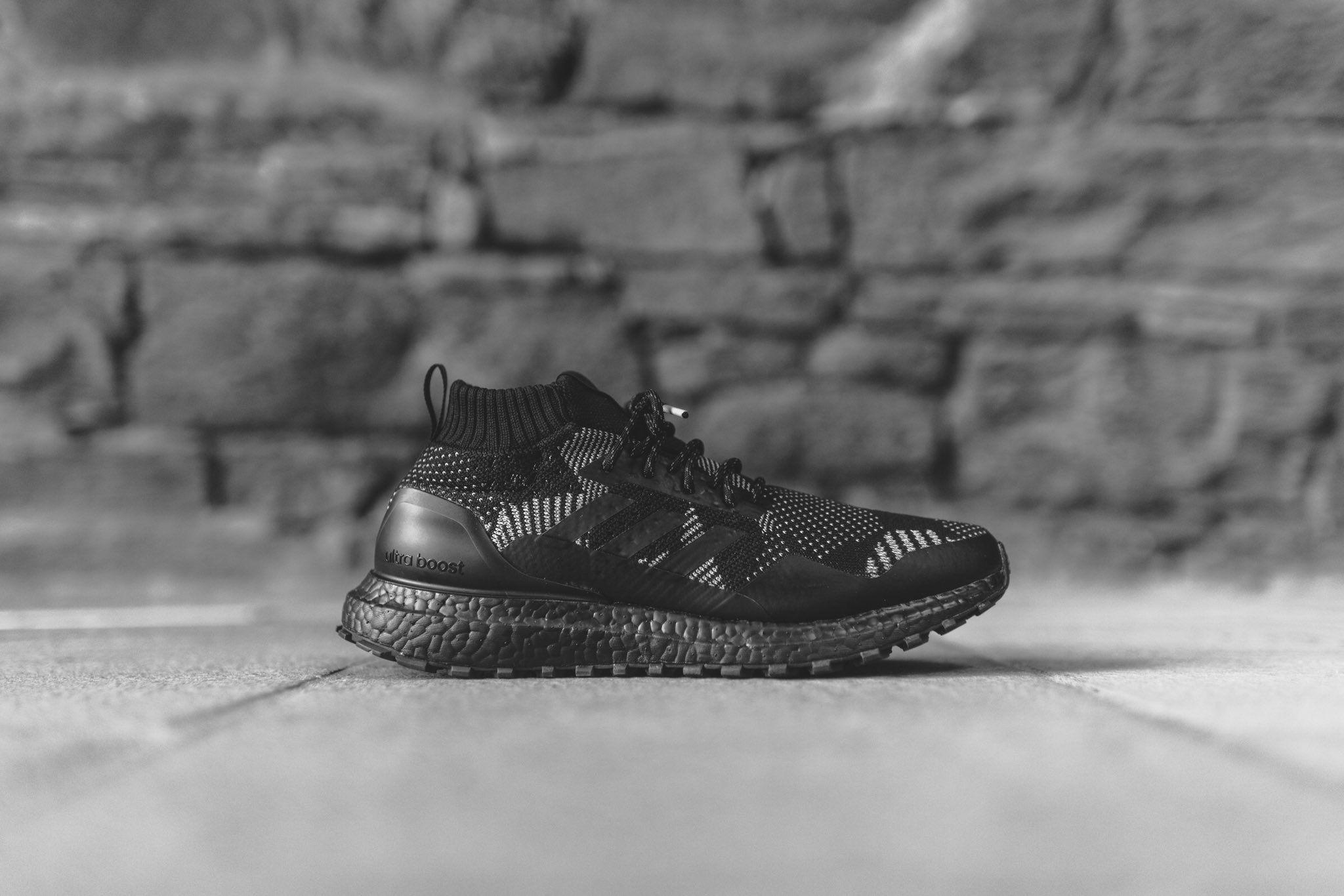 Kith X Nonnative X Adidas Ultra Boost atr mid on feet