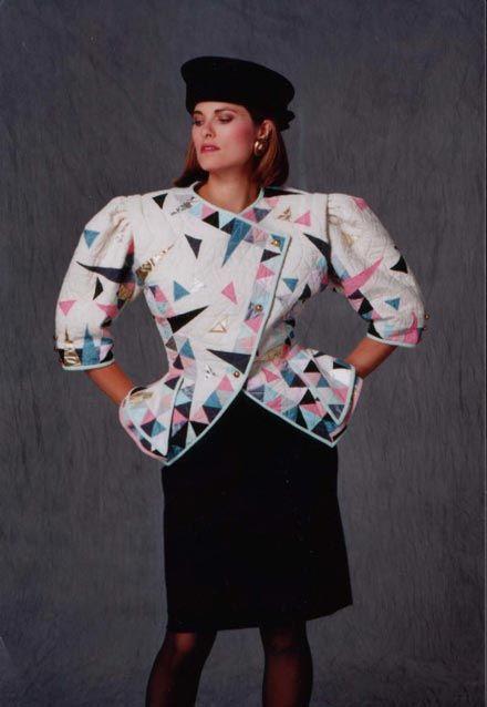 Image result for shoulder pads 80s fashion