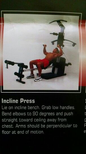 Incline press heidi lusson weider crossbow exercises also best images on pinterest ejercicio rh