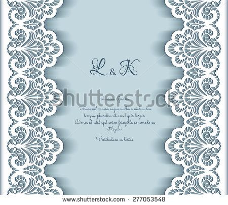 Elegant vector background with cutout paper lace borders greeting elegant vector background with cutout paper lace borders greeting card or wedding invitation template stopboris Choice Image