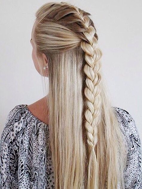 Cool Braid Hair Pinterest Zur Konfirmation Flechtfrisuren Und