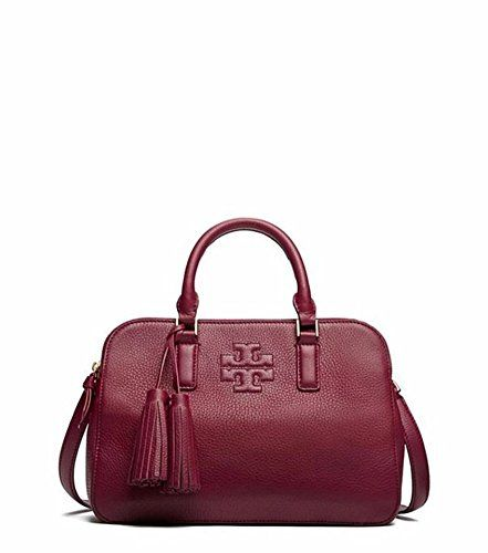 aa69d5be72a9 Tory Burch Thea Small Round Double Zip in Shiraz style 41159702