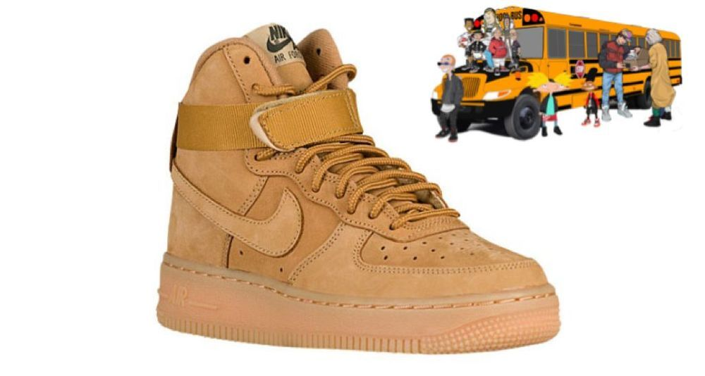 san francisco 335aa 8cce5 NIKE AIR FORCE 1 ONE HIGH LV8 WHEAT AF1 07 WHEAT FLAX TAN 807617-200 YOUTH  GS  Nike  Athletic