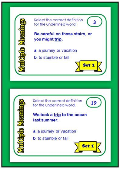 Multiple Meaning Words freebie | Extra Special Reading | Pinterest ...