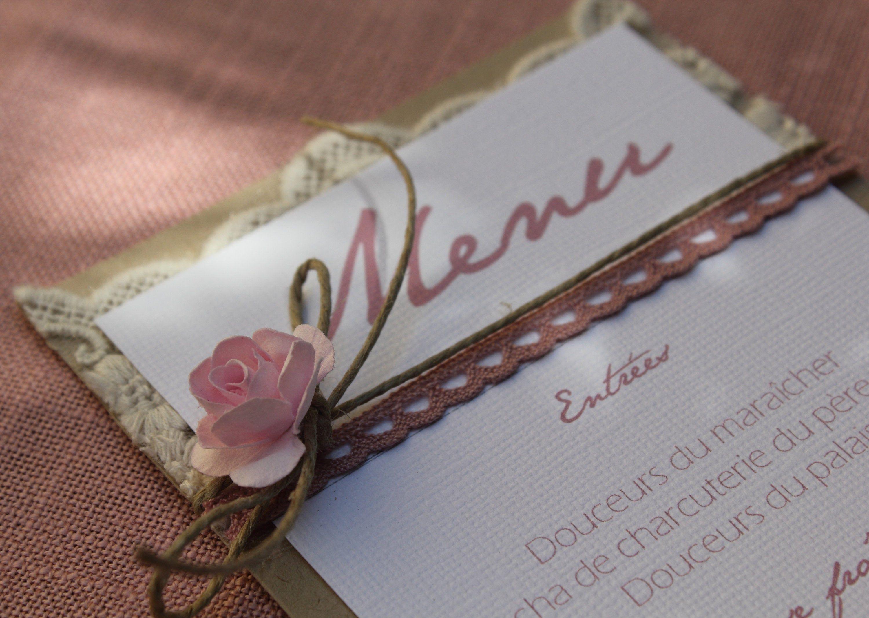 Menu range | romantic wedding in pink thread and white