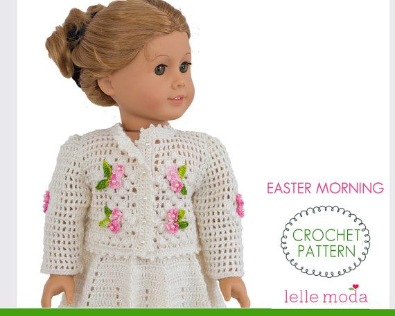 Doll Clothes Crochet Pattern fits American Girl Doll by LelleModa ...
