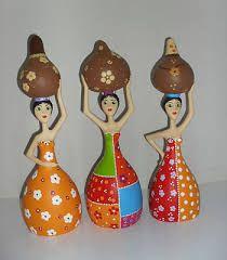 Image result for bonecas de cabaça