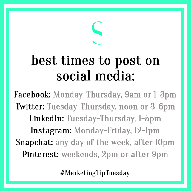 Marketing Tip Tuesday Best Times To Post
