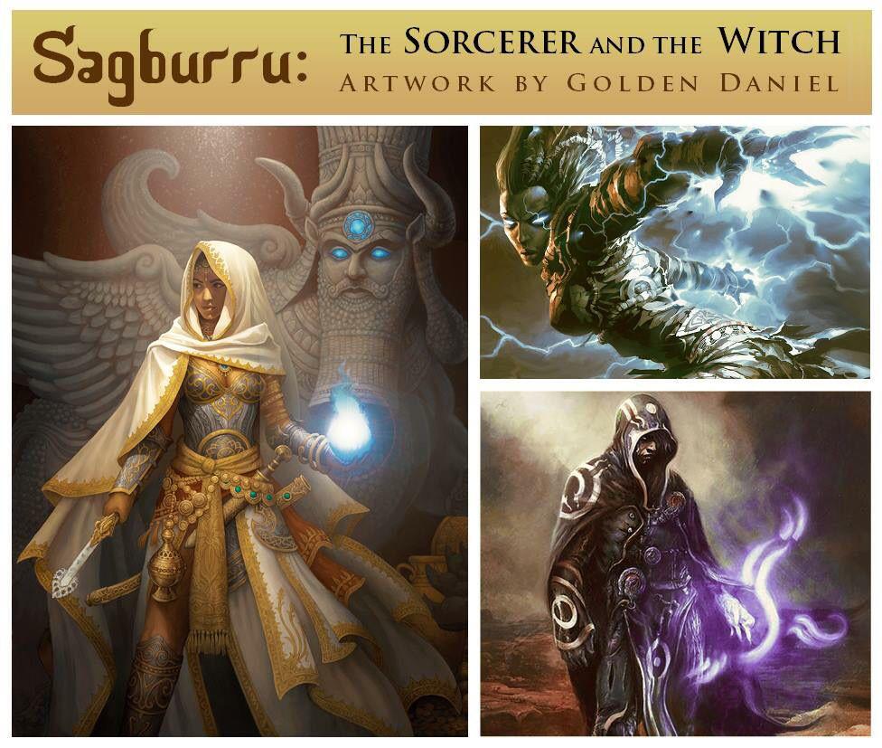 Sorcier et sorcière Witch, Mythical beast, Mythical