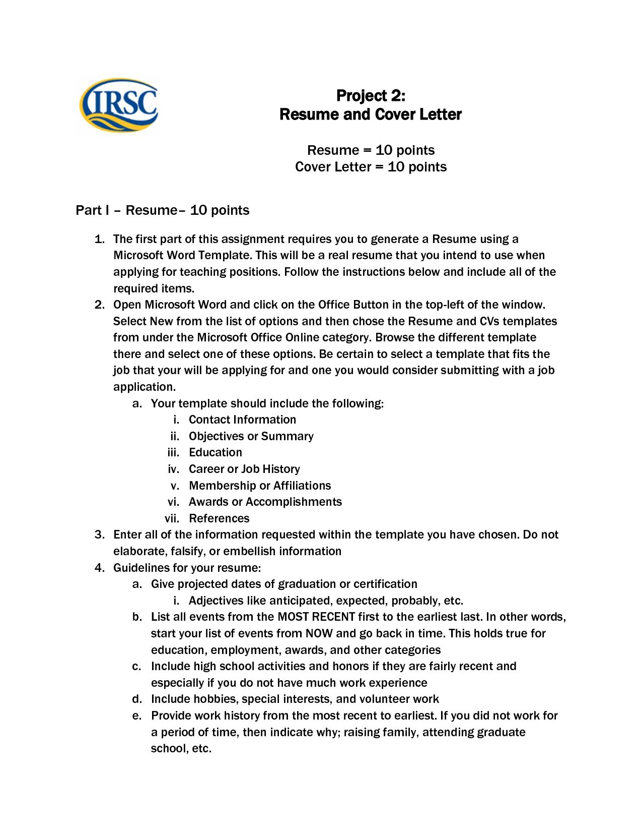 Resume And Cover Letter Template Microsoft Word Resume