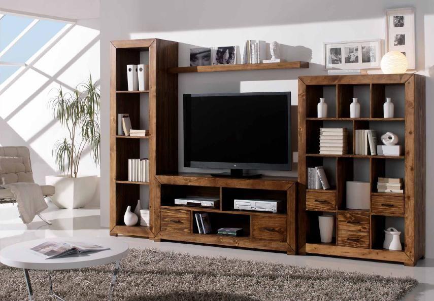 Mueble rústico modular TV | Salón | Pinterest | Modular tv, Muebles ...