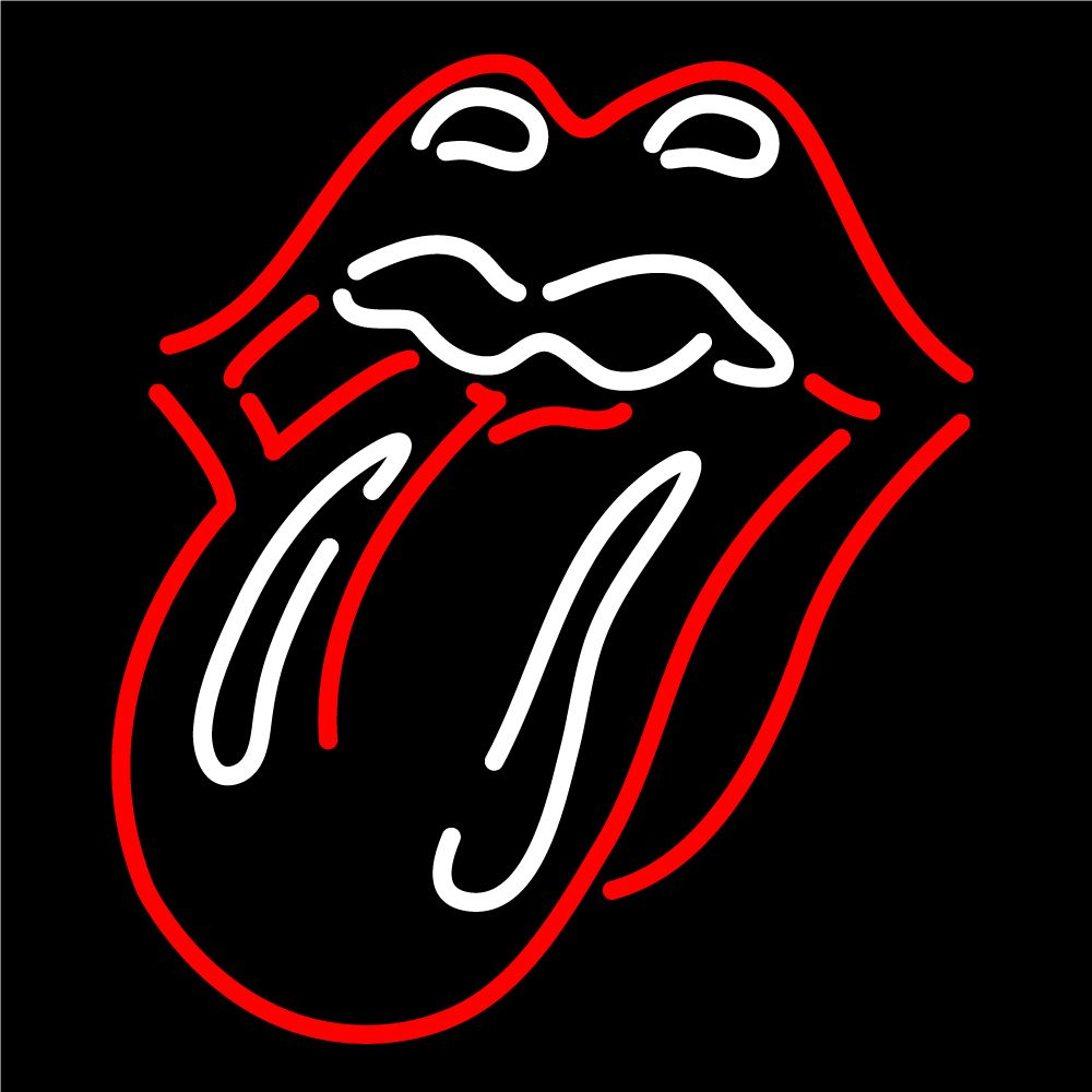 Custom Rolling Stones Lips And Tongue Logo Neon Sign 1 Simbolo De Rock Carteles De Rock Imagenes De Rock