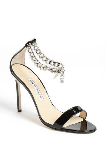 8375a33b5831 Manolo Blahnik Chaos Chain Sandal Black 9.5US   39.5EU Review Buy ...