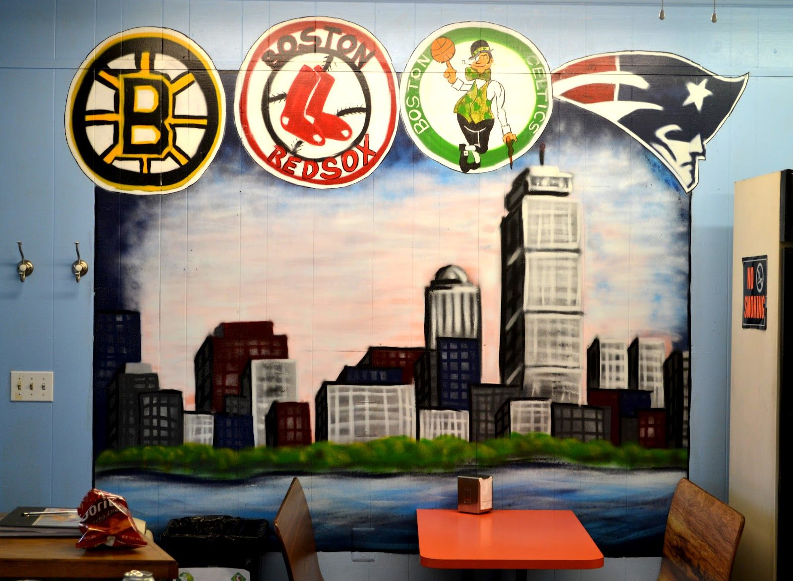 Sports Mural, Bragas Best Coney Island Hotdogs Mural