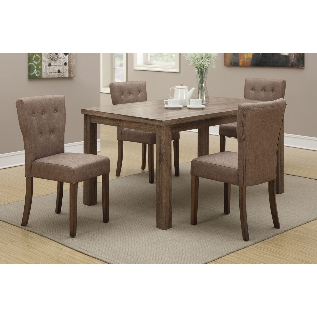 Montrose 5Piece Dining Set  Upholstery Chairs And The O'jays Beauteous Grey Dining Room Sets Decorating Design