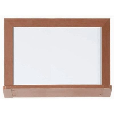 AARCO Architectural High Performance Magnetic Wall Mounted Whiteboard Surface Color: High Gloss White, Size: