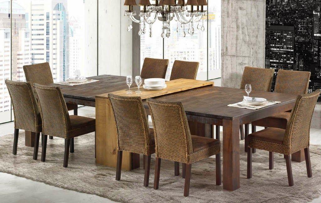 Artesanato Em Feltro ~ Mesa com aparador embutido em salas de jantar e cozinhas u2013 veja modelos lindos! Coisas para