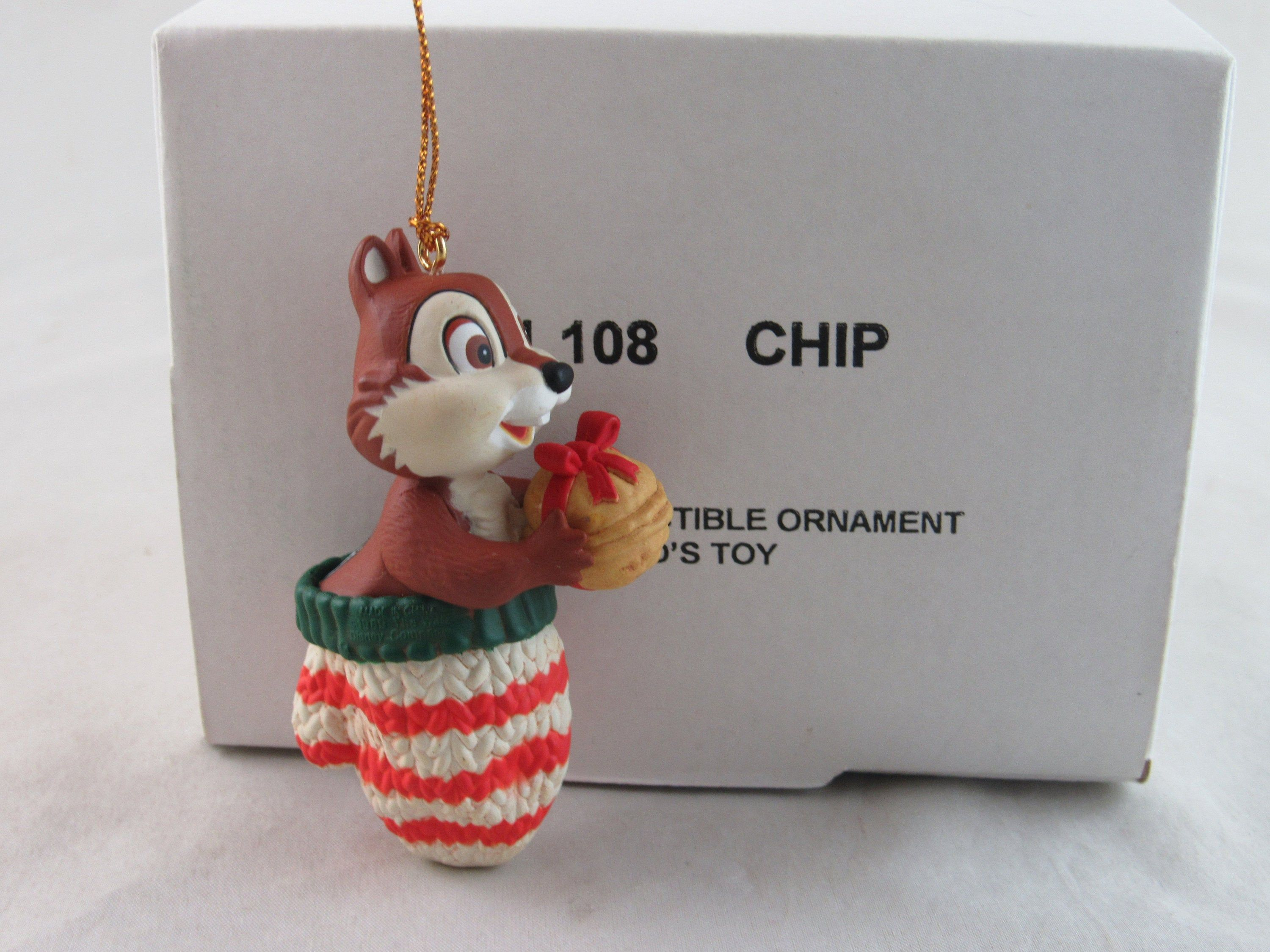 Grolier Disney Chip From Chip And Dale Christmas Ornament In Etsy Disney Christmas Ornaments Christmas Ornaments Ornaments