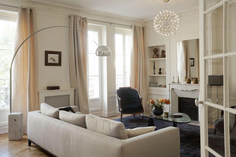 Un appartement haussmannien remis au goût du jour à paris florence ronsil architecte décoratrice